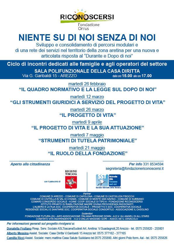 """""""Niente su di Noi, senza di noi"""". Ad Arezzo al via i corsi di formazione"""
